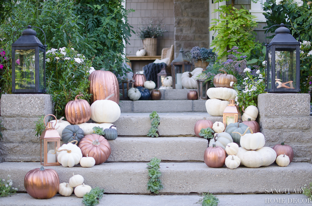 Outdoor Fall Decorating-Fall Porch Decor-Home Decorating Ideas