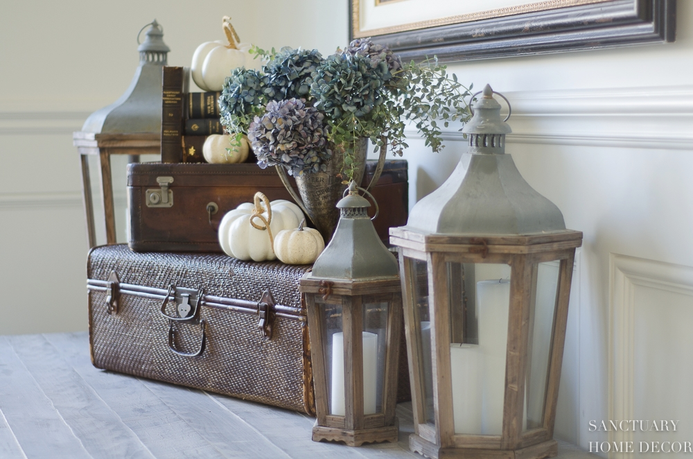 5 Minute Fall Decorating Easy Vignettes Sanctuary Home Decor