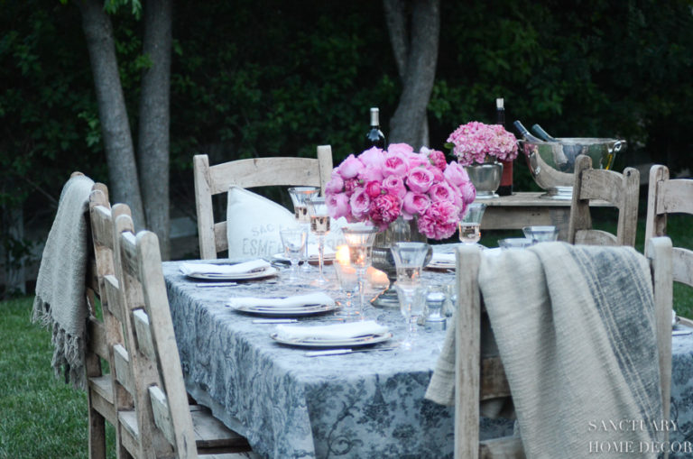 How to Set A Beautiful Table For Any Season + Affordable Tablecloth Sources