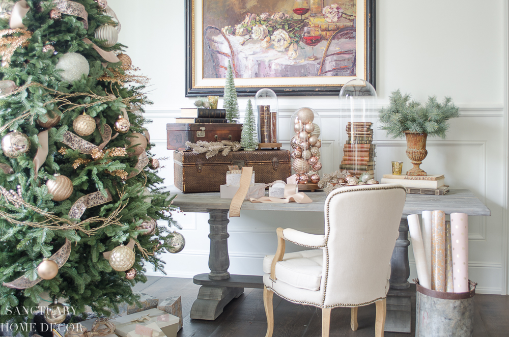 ... Reading My Blog For Awhile, You Know I LOVE Copper Accents In My Home,  So I Decided To Incorporate Some Copper Tones In My Christmas Decorating As  Well.