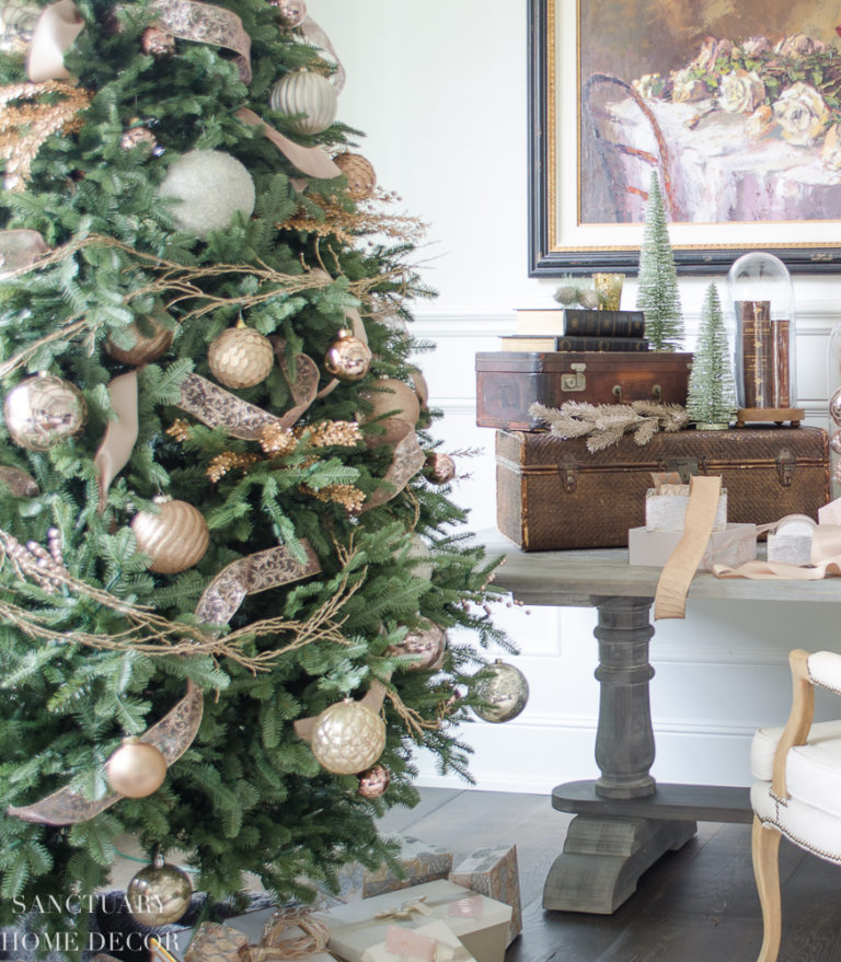 Christmas Decorating with Blush, Rose Gold and Copper