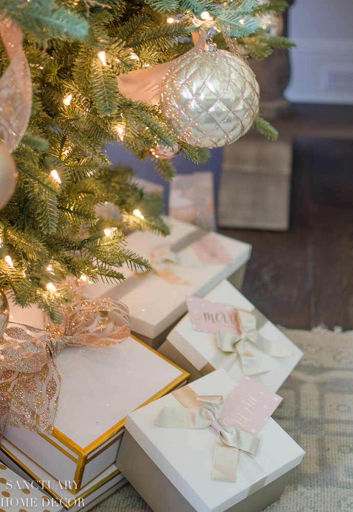Christmas Decorating With Blush Rose Gold And Copper Sanctuary Home Decor