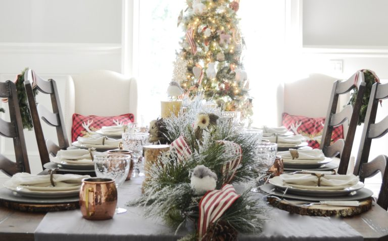 A Rustic Woodland Holiday Table