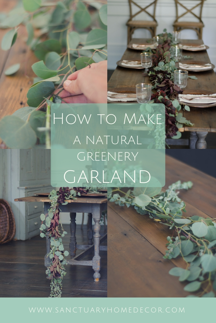 How To Make A Fresh Greenery Table Garland Sanctuary Home Decor