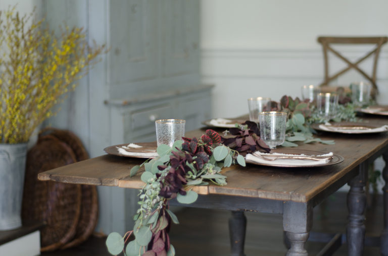 How To Make a Fresh Greenery Table Garland