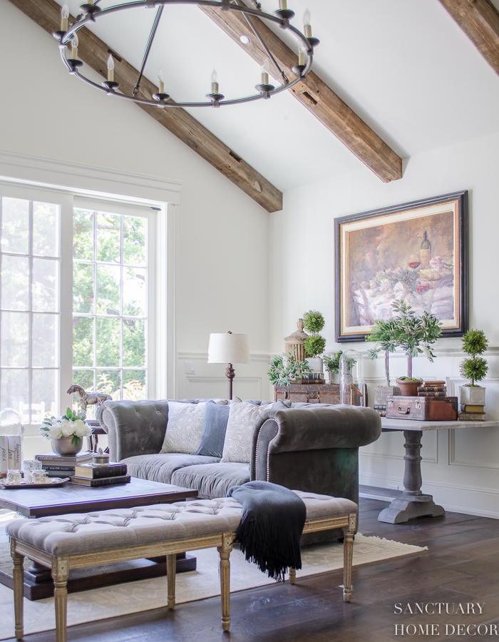 How To Decorate A Brown Living Room: How To Decorate With Topiaries