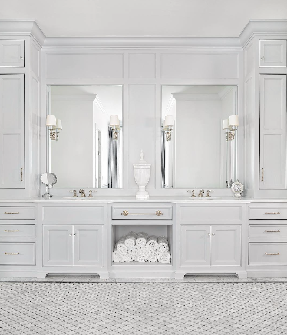 Grey And White Marble Bathroom: The 15 Most Beautiful Bathrooms On Pinterest