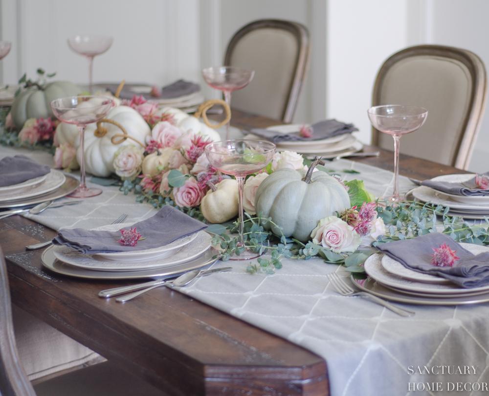 A Soft Pastel Fall Table Setting Sanctuary Home Decor
