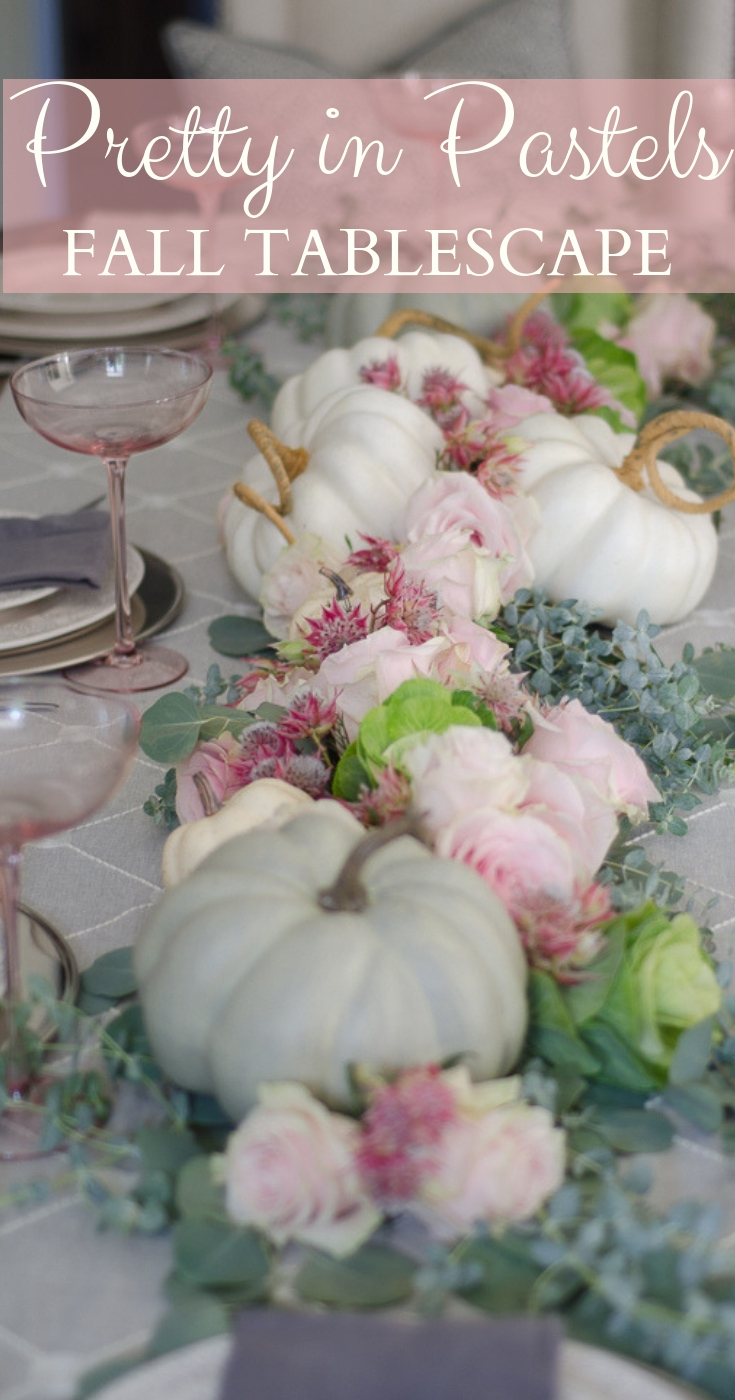 Pastel and Pink Fall Tablescape
