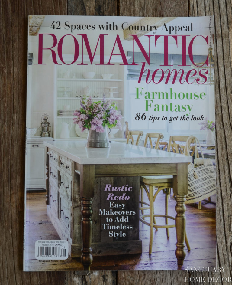 Our House in Romantic Homes Magazine!