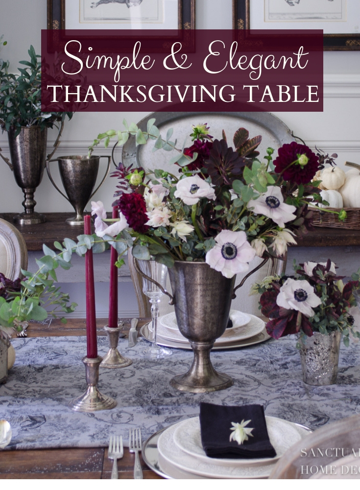 Simple Elegant Thanksgiving Table