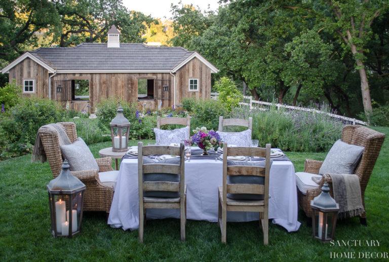 An Early Summer Backyard Dinner Party