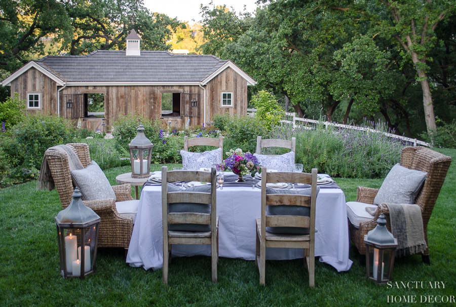 An Early Summer Backyard Dinner Party - Sanctuary Home Decor