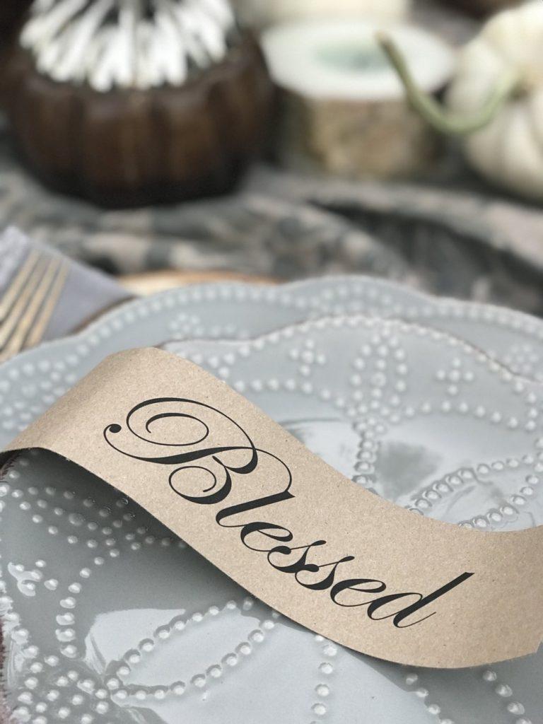 Thanksgiving printable for table setting