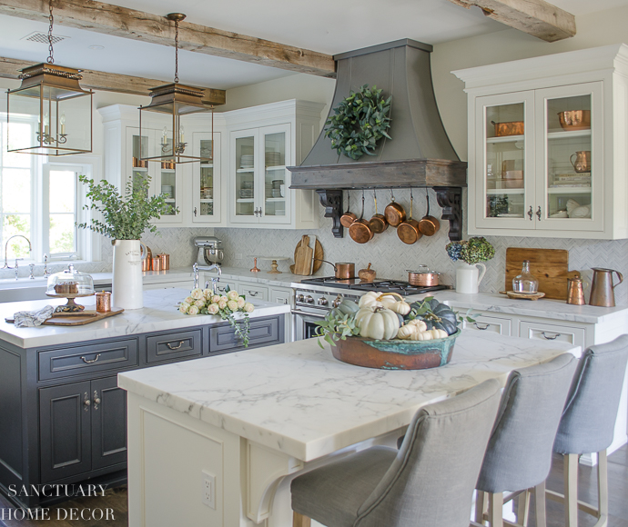 Neutral Fall Decorating-My Home Tour