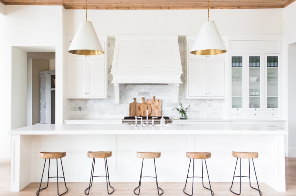 That Is The Case With This Beautiful Kitchen Photographed By Kate Osborne White Cabinets Alongside Bright Counterarble Backsplash