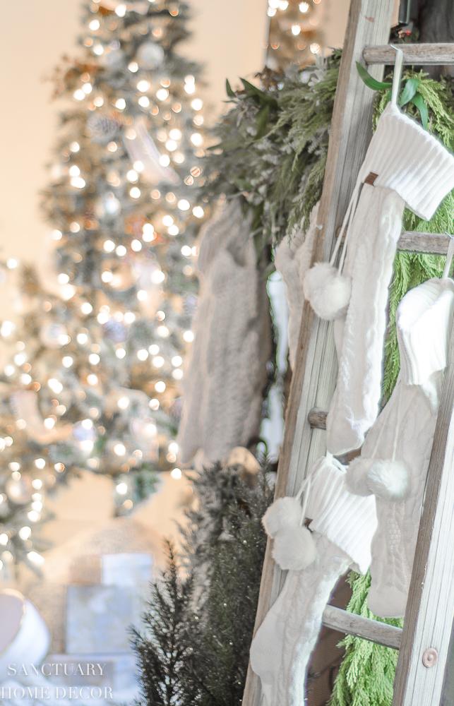 knit stockings-mantle decor