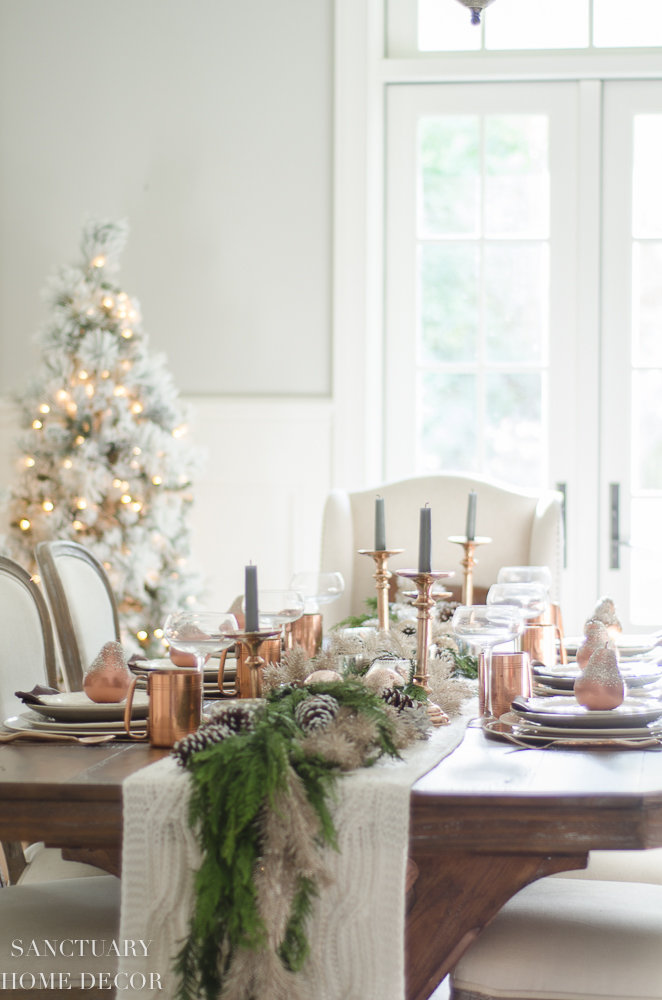 A Neutral Christmas Tablescape With Copper Accents Sanctuary Home