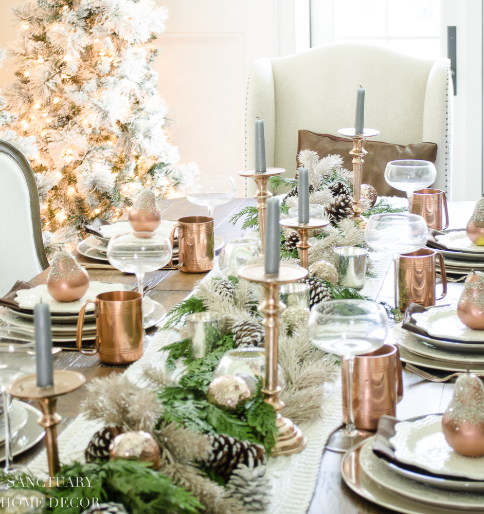 Elegant And Neutral Christmas Foyer: Rustic, Elegant, Neutral