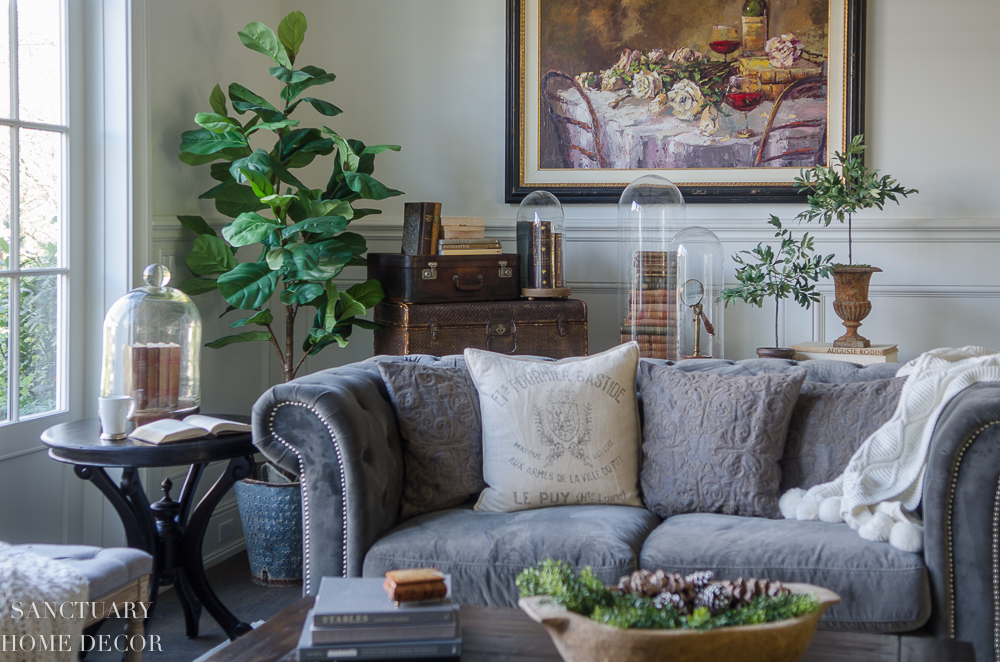 How To Decorate With Faux Flowers And Greenery To Get Through Winter Sanctuary Home Decor