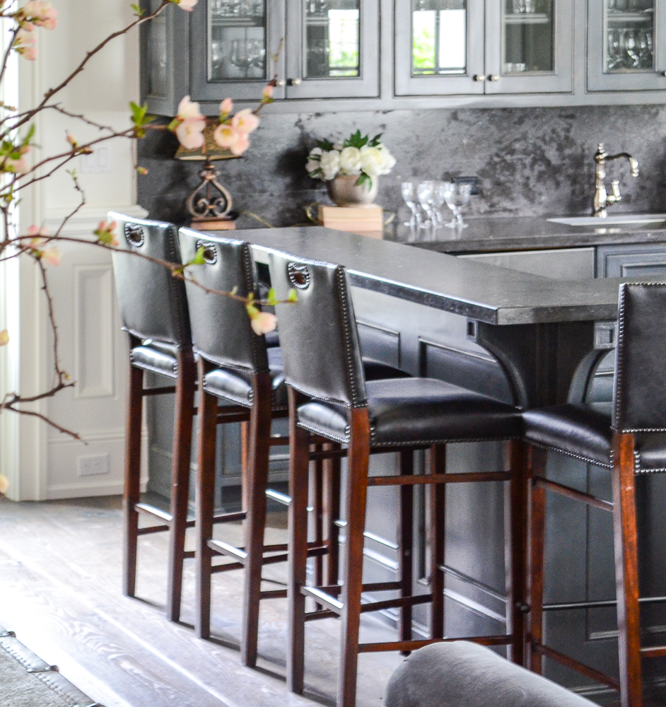 Charcoal Painted Bar