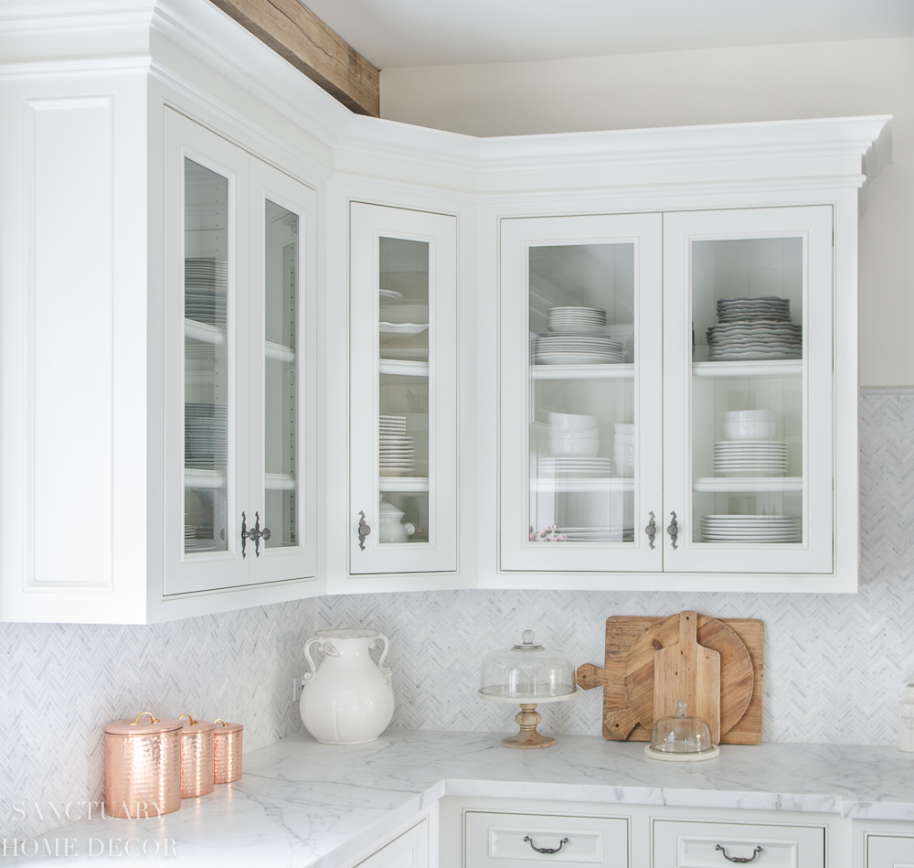 How To Style Glass Kitchen Cabinets Sanctuary Home Decor