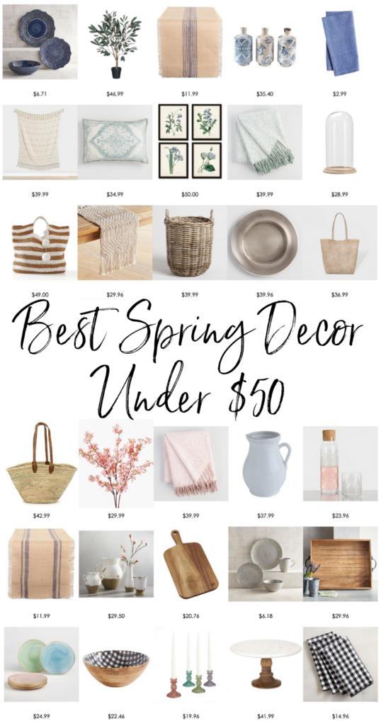 Budget decorating for spring.  Affordable spring decor. Best spring decorating ideas.