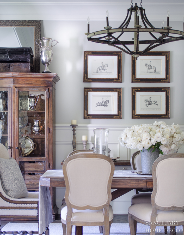 Our Dining Room Is Another Area Where I Created A Smaller Gallery Of Vintage Equestrian Prints Found These Many Years Back At An Antique Store And They