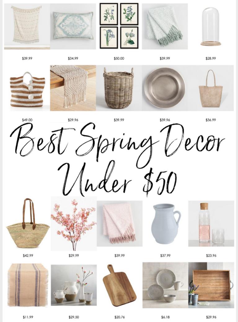 The Best Spring Decor Under $50