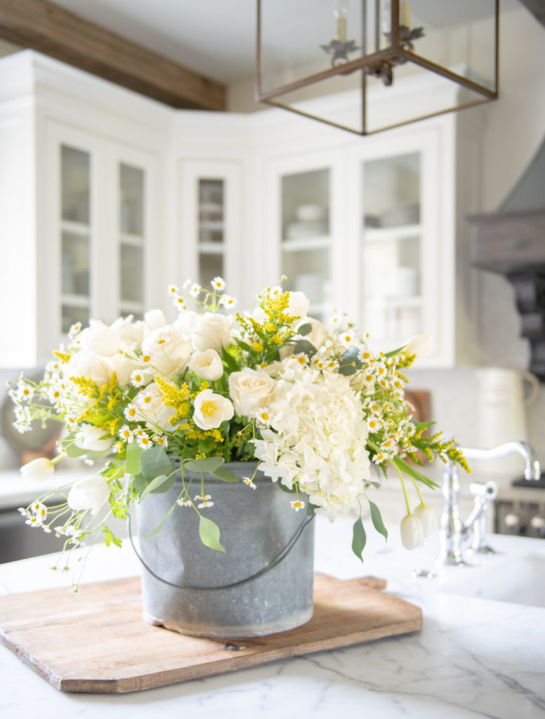 Summer home tour-Yellow and White Accents