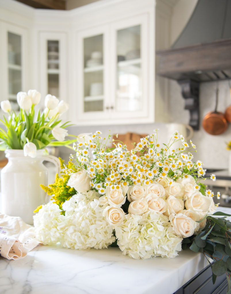 How To Make An Oversized Flower Arrangement On A Budget Sanctuary Home Decor