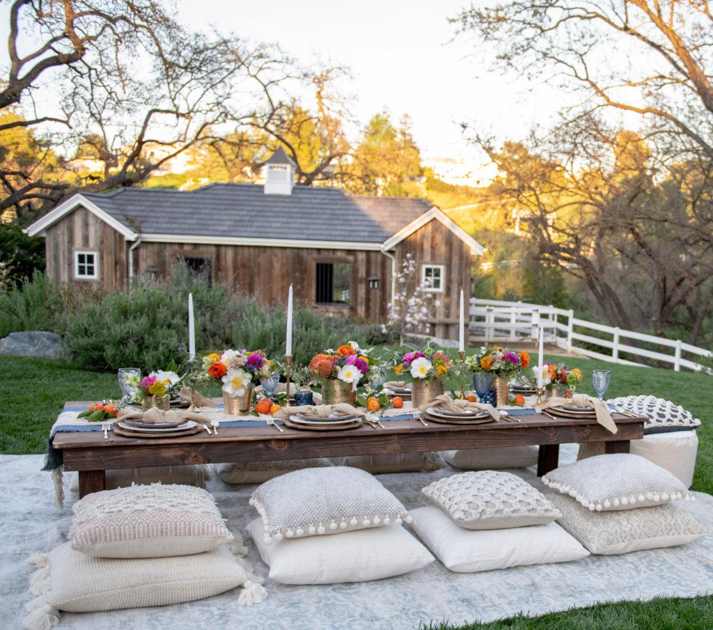 How To Plan A Bohemian Backyard Dinner Party Sanctuary Home Decor