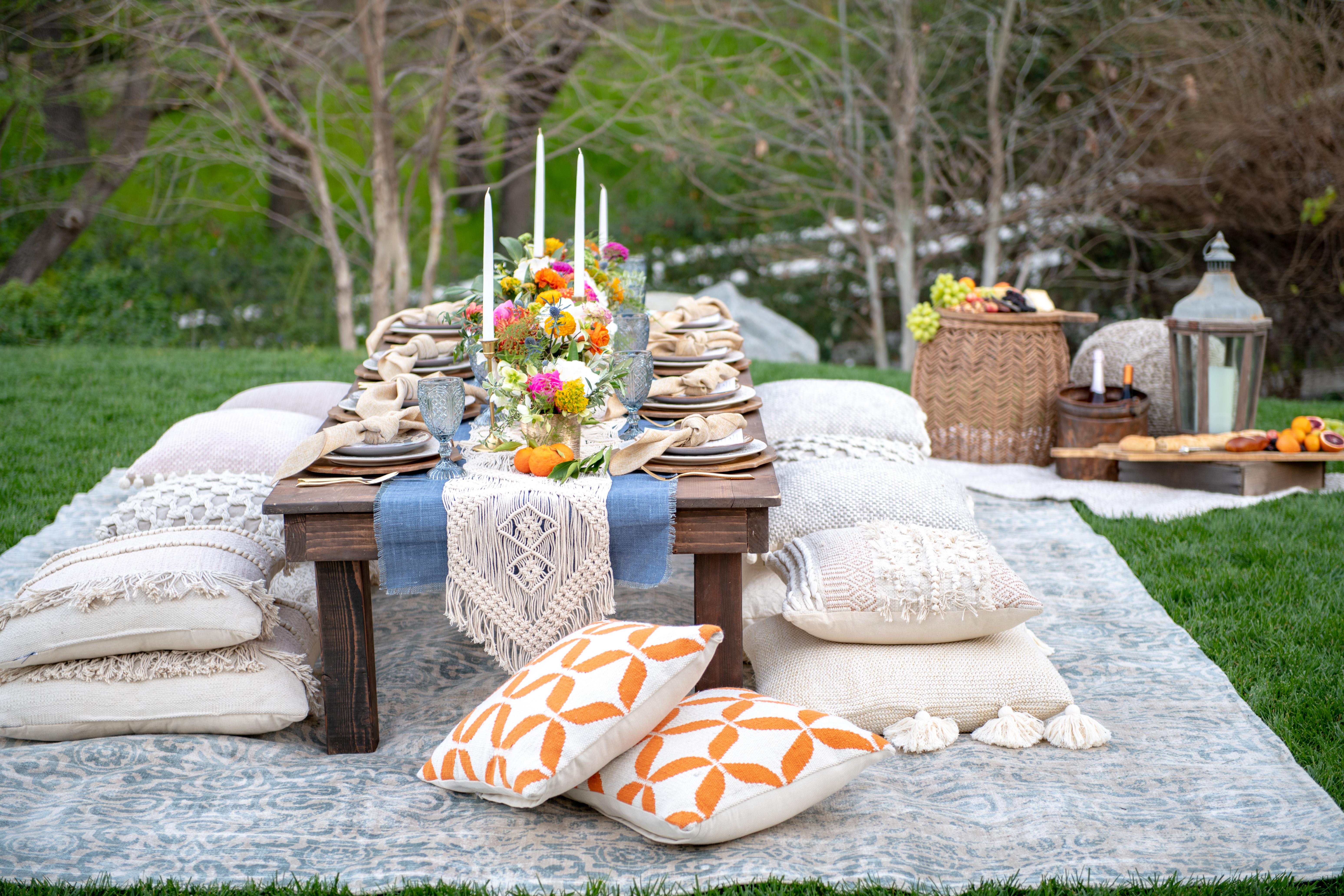 Plan A Bohemian Backyard Dinner Party