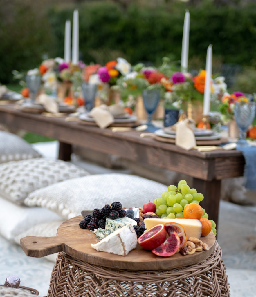 Bohemian Dinner Party-Fruit and cheese plate