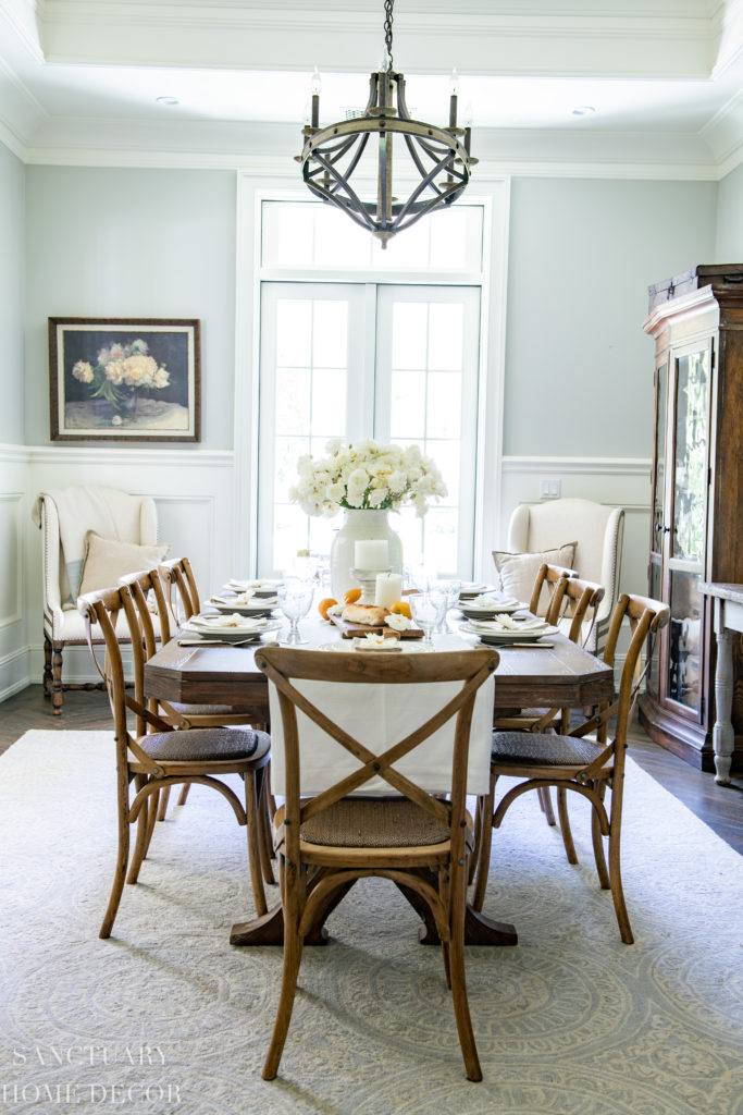 Summer Dining Room Update: A Fresh White Table Setting
