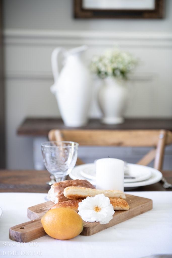 A Fresh White Farmhouse Table Setting