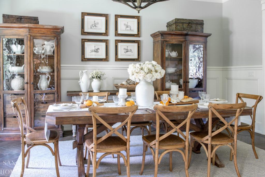 Dining Room Decor-Farmhouse dining room