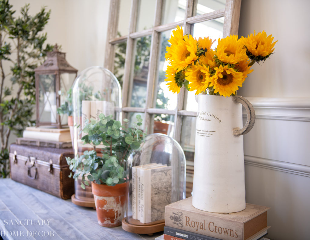 Yellow and white decor accents