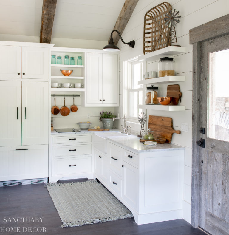 How I Decorated our New Guest Cottage Kitchen