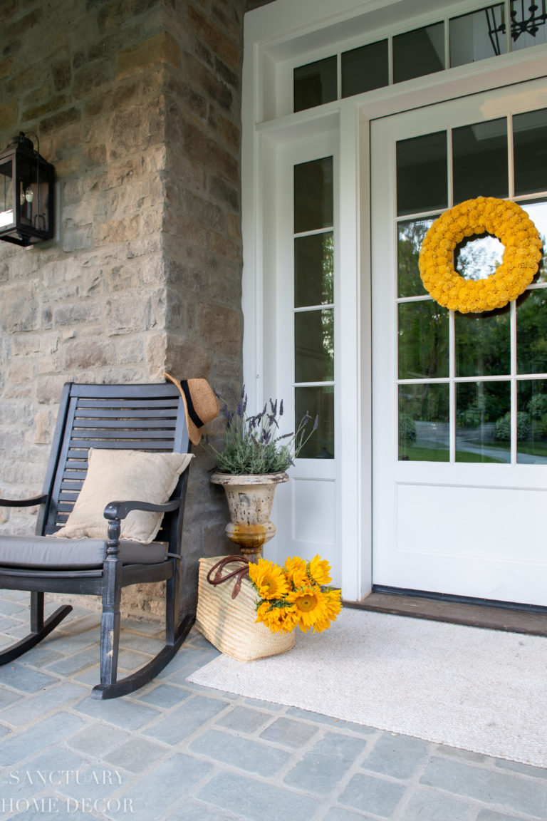 Summer Home Tour With Yellow and White Accents