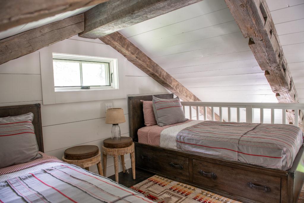 Cabin loft bunk room