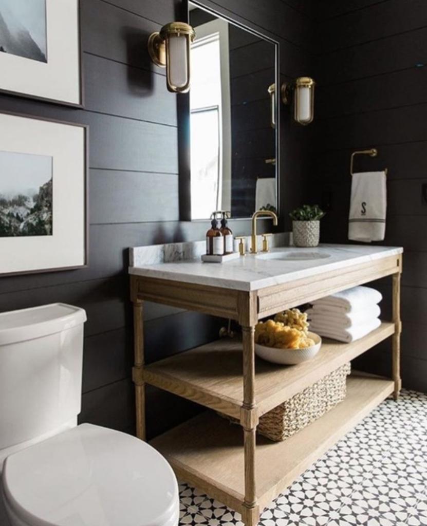 Modern farmhouse bath cabinet