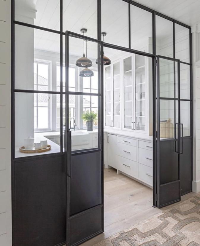 Pantry with steel doors