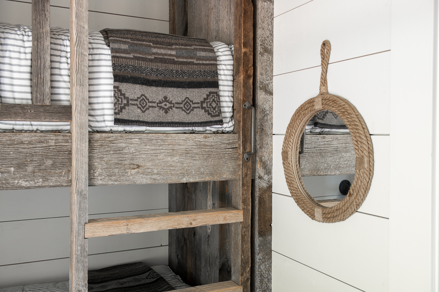 ship lap walls with rope mirror