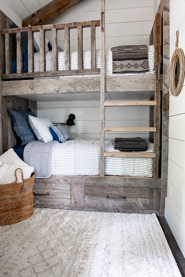 Built-in bunk beds - Barn wood