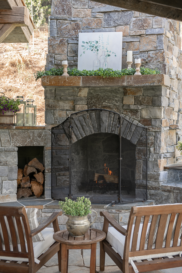 Outdoor Stone Fireplace Inspo