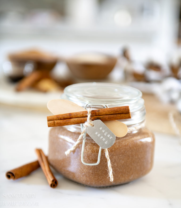 Spiced Vanilla Homemade Sugar Scrub Recipe
