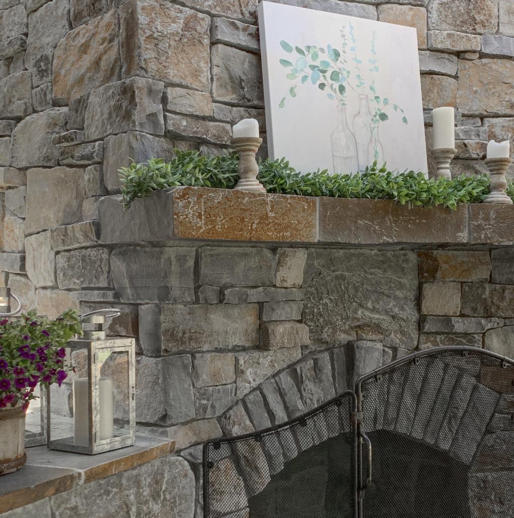 Outdoor Fireplace Decor