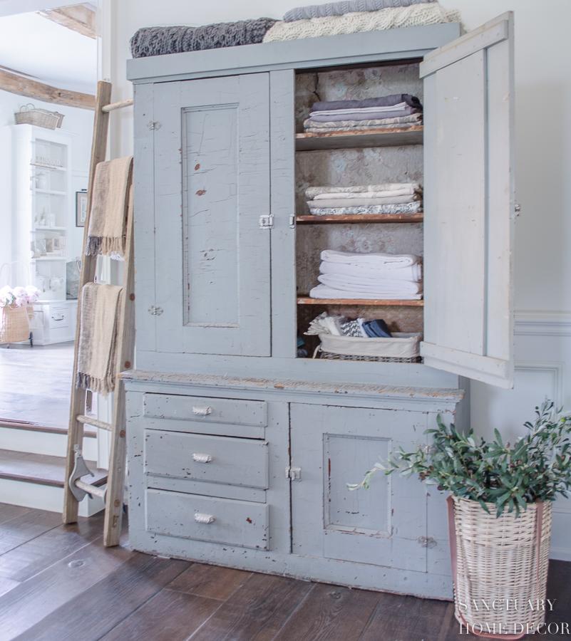 Chippy linen cabinet