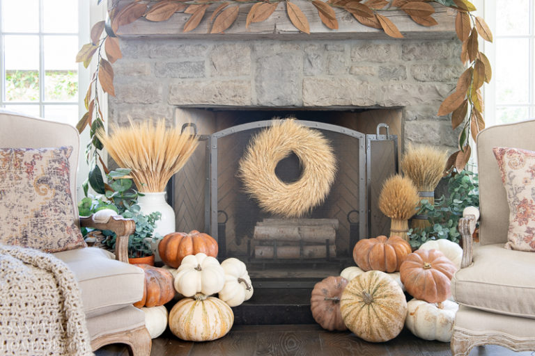 Fall Fireplace Decorating Tips